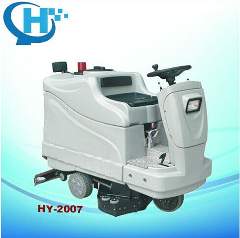 Ride on electric automatic floor cleaning machine