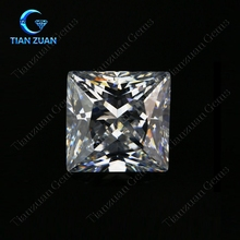D or E color square shape Moissanite SiC material moissan stone