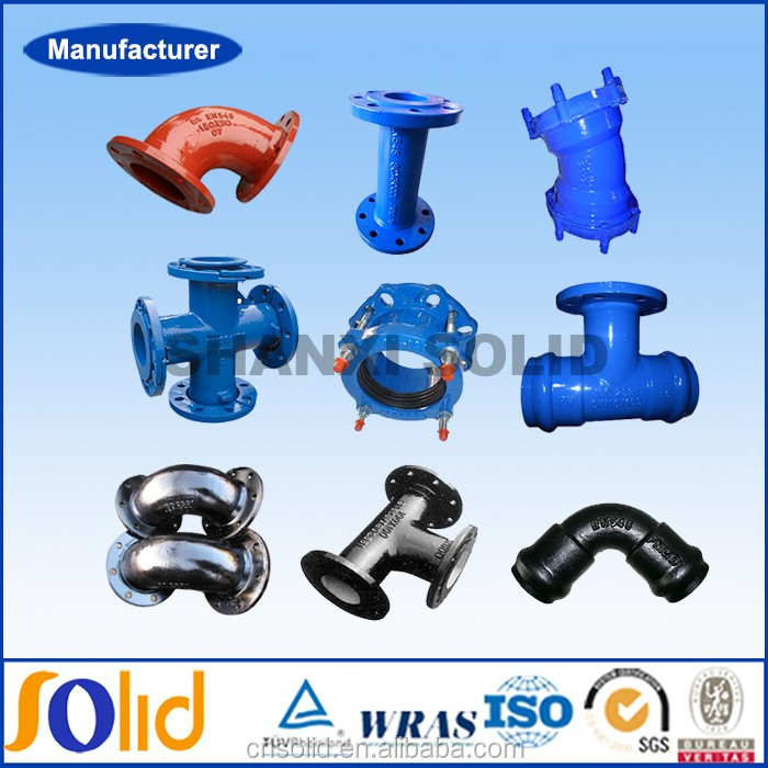 ISO2531 BSEN545 BSEN598 ductile iron pipe fittings