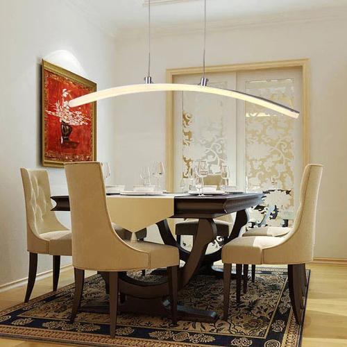 Modern led luminária de acrílico, arco criativo lustre em forma de ...