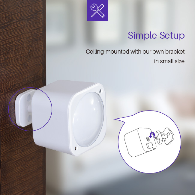 Infrared motion sensor, temperature and humidity sensor smart home product system