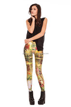cheap wholesale brand name clothes colorful leggings yoga sports