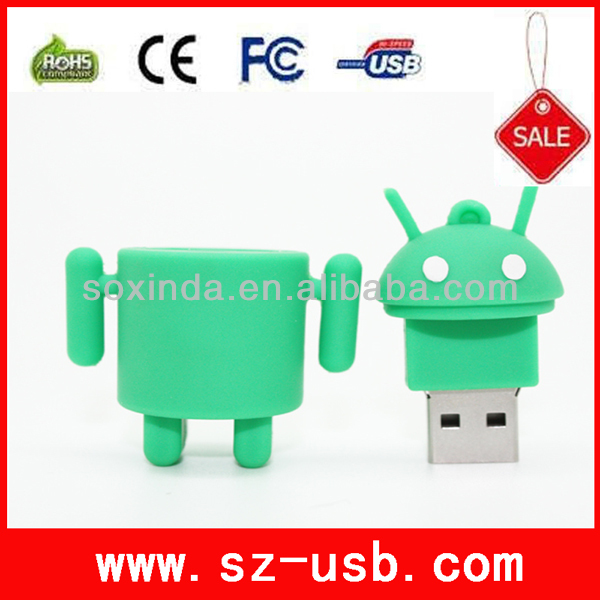 android OEM Wholesale Novelty 4gb gift robot usb flash drive