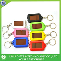 Plastic Personalized Solar Power Flashing Lcd Keychain