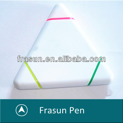Elegant Triangle Shape 3 In 1 Promotional Gift Liquid Glitter Pen