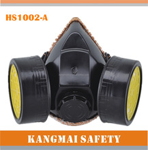 new arrival PVC gas mask with two filter military TPR gas mask full face gas mask