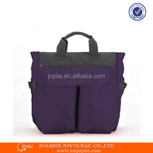 Waterproof wholesale fabric baby diaper bag with change mat for young mummy
