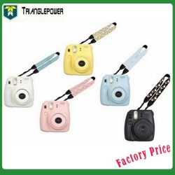 Colorful FujiFilm Instax Mini 8 Polaroid Instant Checky Camera Strap