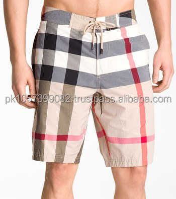 OEM cheque mens board shorts with stripes - fishermen short,fashion plain board shorts - sexy mens board short -