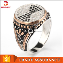 Guangzhou silver jewelry wholesale black stone platinum for men