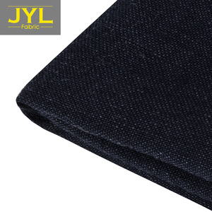 JYL plain dyed stone washed linen rayon fabric in stock for home textile 55% linen 45% rayon fabric GL1004#