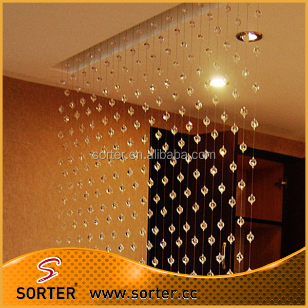 decorative global ball shape crystal bead home curtain