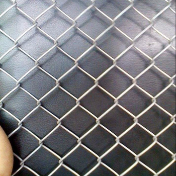 Hot dipped galvanized knitted temporary chain link fence