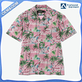 Hot selling custom printed floral fashion cotton casual shirt hawaiian