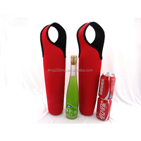 Reusable neoprene Wine bottle carriers