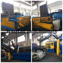 Hydraulic metal shear baler used scrap metal baler press