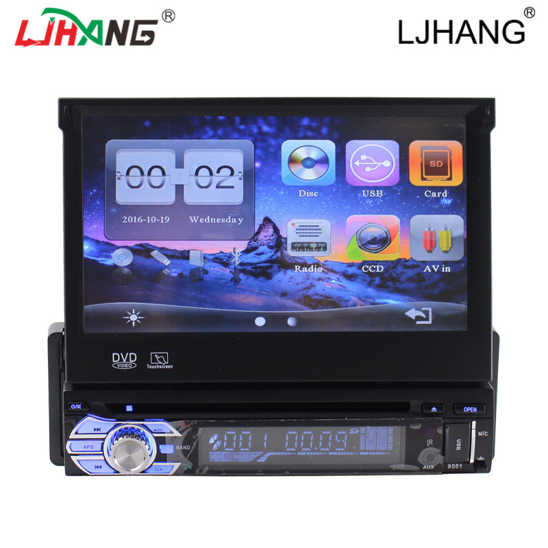 1 din car gps audio system for universal product out coming screen DVD/VCD Mp3/Mp4 Radio Tuner