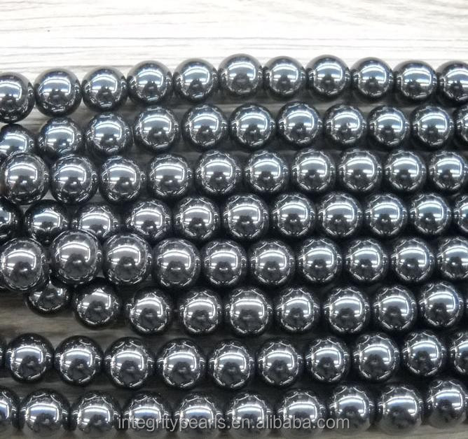 10 mm High Quality round gemstone jewelry natural Hematite Beads