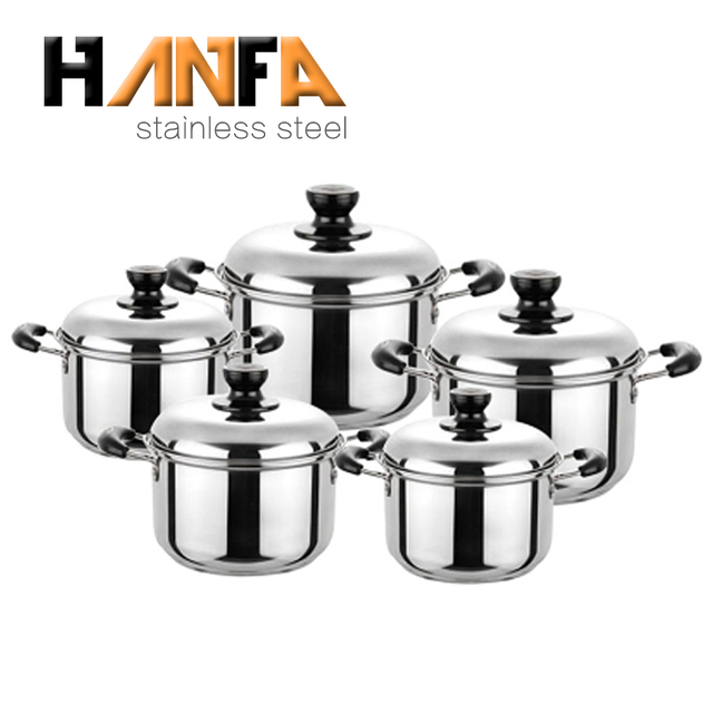 Source manufacturer for 10pcs of stainless steel stock pot casserole set