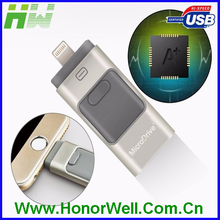 Newest otg usb Flash Drive HD U-Disk Micro USB interface 3 in 1 for Android/iPhone 5/6/5s/6Plus iPad iPod/PC/MAC