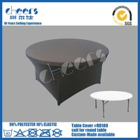 10 seaters HDPE blow mold big round folding table for weddings