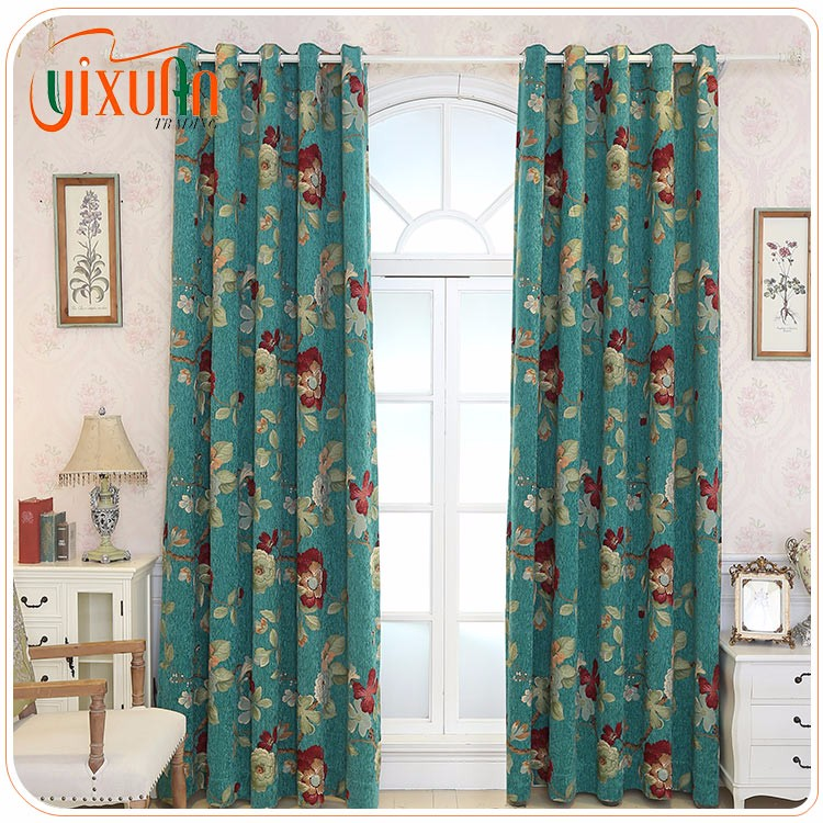 largest quality cheap fabric made luxury jacquard curtain for sale