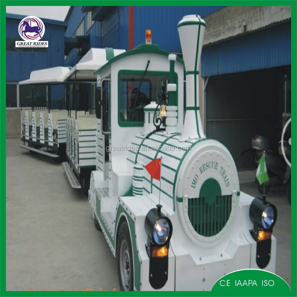 amusements park rides electric real train for sale