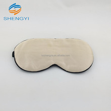 Professional white luxury 100% silk sleep eye mask