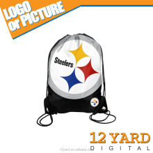 2015 American football fan products big size Nylon football soccer drawstring sport backpack bags