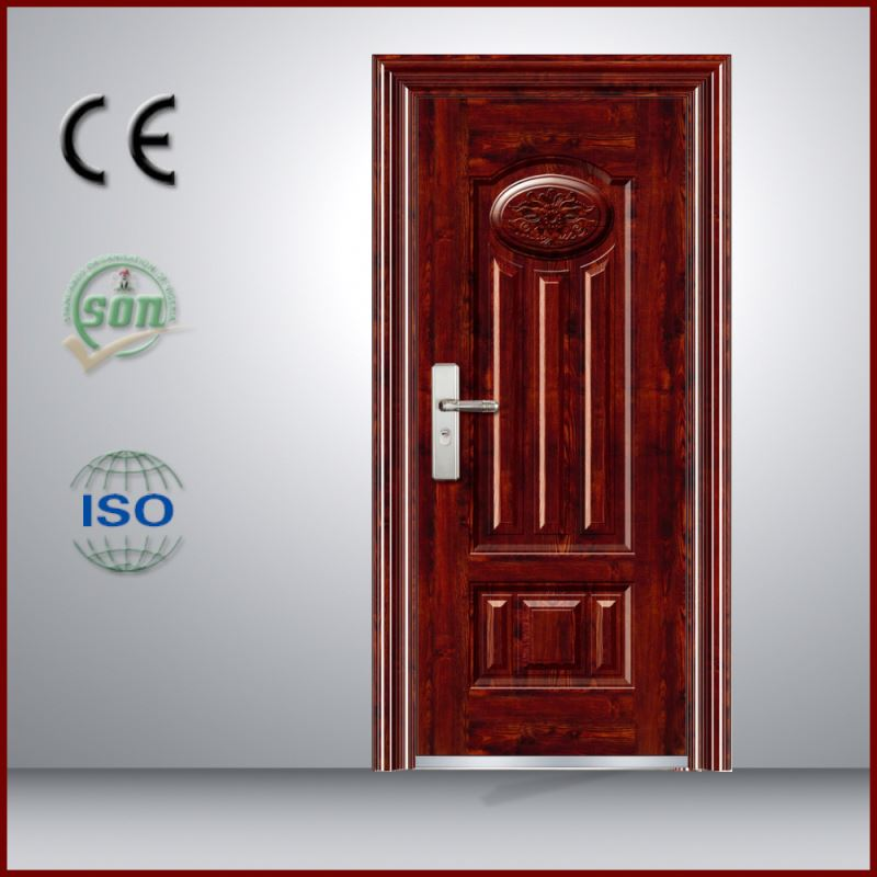 China supplier homes design one and half security entry steel door for decorating houses