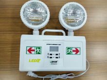 2x2W lamps led rechargeable emergency exit light