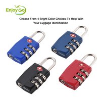 Approved 3 Digit Travel Luggage TSA Combination Lock Cable Lock