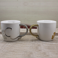 hot sales chrome coffee cup ceramic
