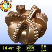 "14 6/8"" PDC teeth steel matrix drilling bits for deep well"