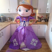 Hola adult sofia the first mascot costume for sale