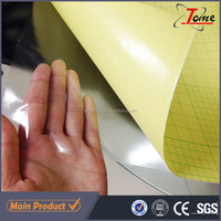 pvc cold laminating film , Glossy / matte pvc cold lamination film for photo frontlit paper