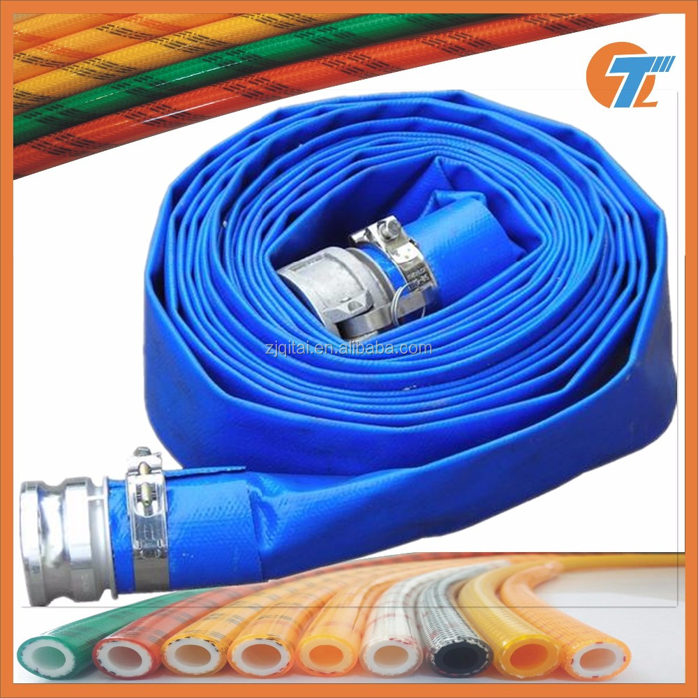 hot sales <strong>PVC</strong> Yellow/Blue/Red Irrigation Lay Flat Hose/Pipe/Tube