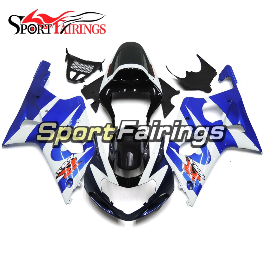 Blue White Injection Fairings For Suzuki GSXR1000 K1 K2 00 01 02 ABS Plastic Complete Motorcycle Fairing Kit Body Fitings