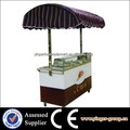 stainless steel mobile fast food truck cart for crepe maker sale