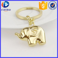 New Design Gold Color Elephant Shape Key ring