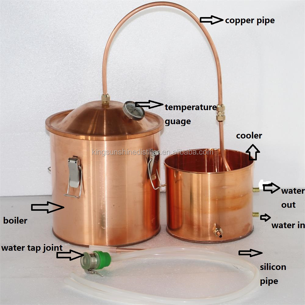 10L/3Gal pure copper home use moonshine alcohol distiller column still for sale