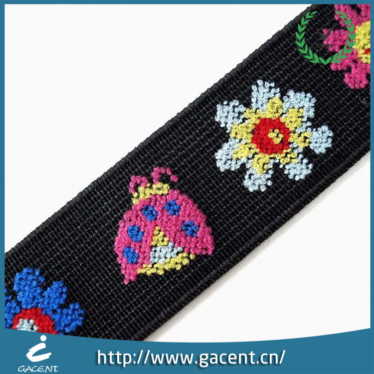 Non-slip jacquard elastic webbing for customized logo