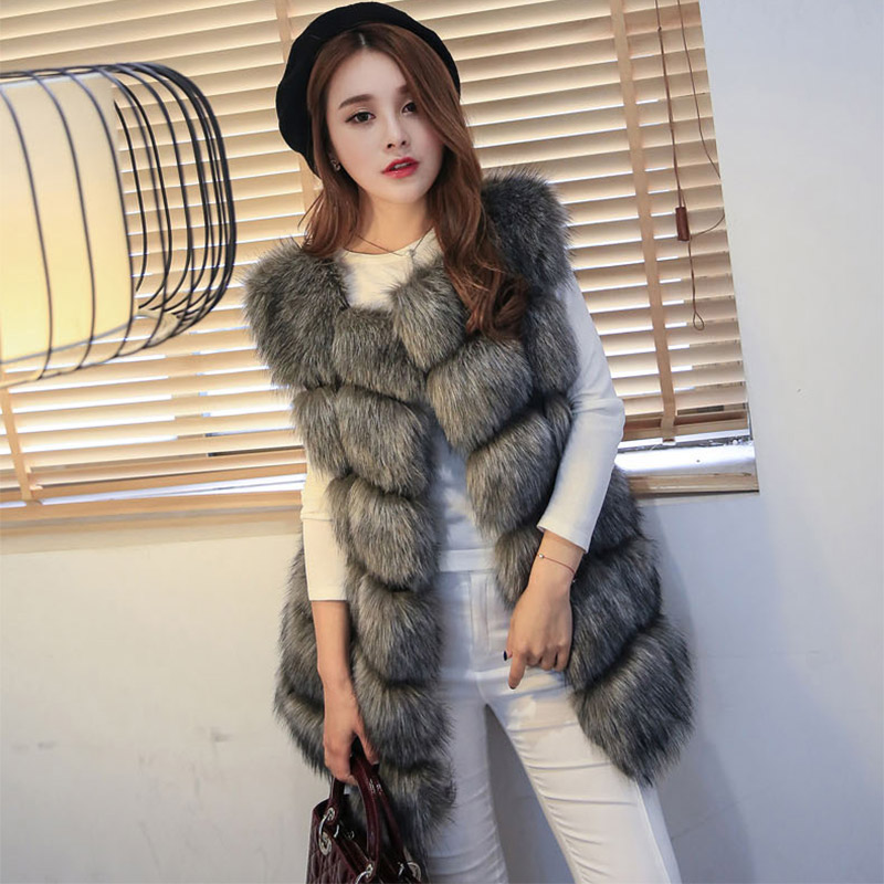 fake fur coat kids fake chinchilla coats real waistcoat vest women winter jacket