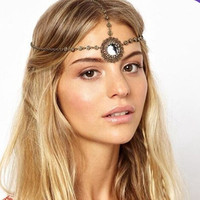 Wholesale vintage hair accessories jewelry head chain indian head piece jewelry
