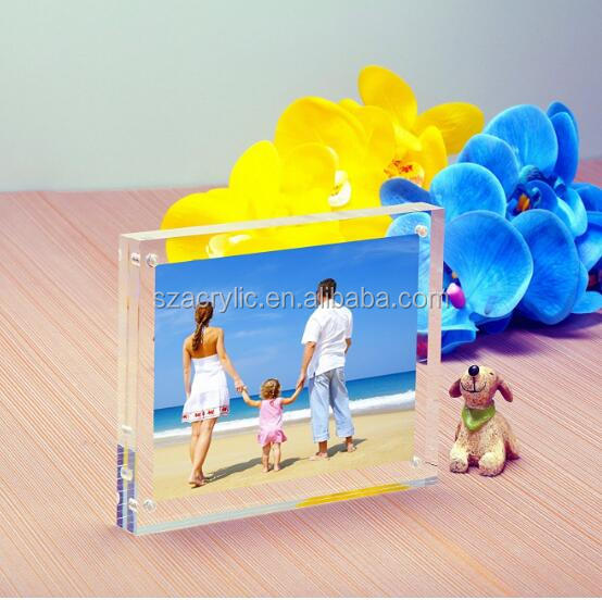 factory custom 5x5 clear square acrylic photo frame
