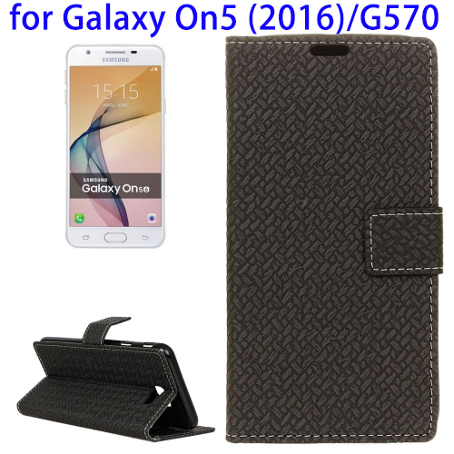 Leather Customized Phone Case Cover for Samsung Galaxy On5 2016, Back Cover Case for Samsung Galaxy On5 for Wholesale