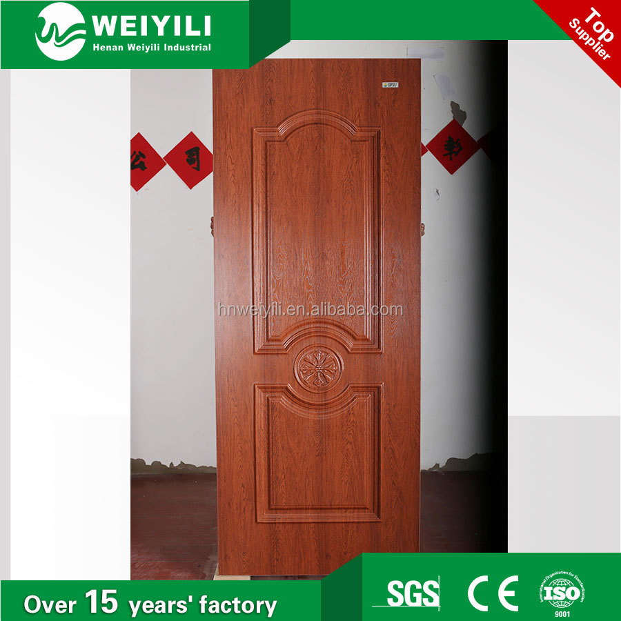 PVC finish WPC door skin factory