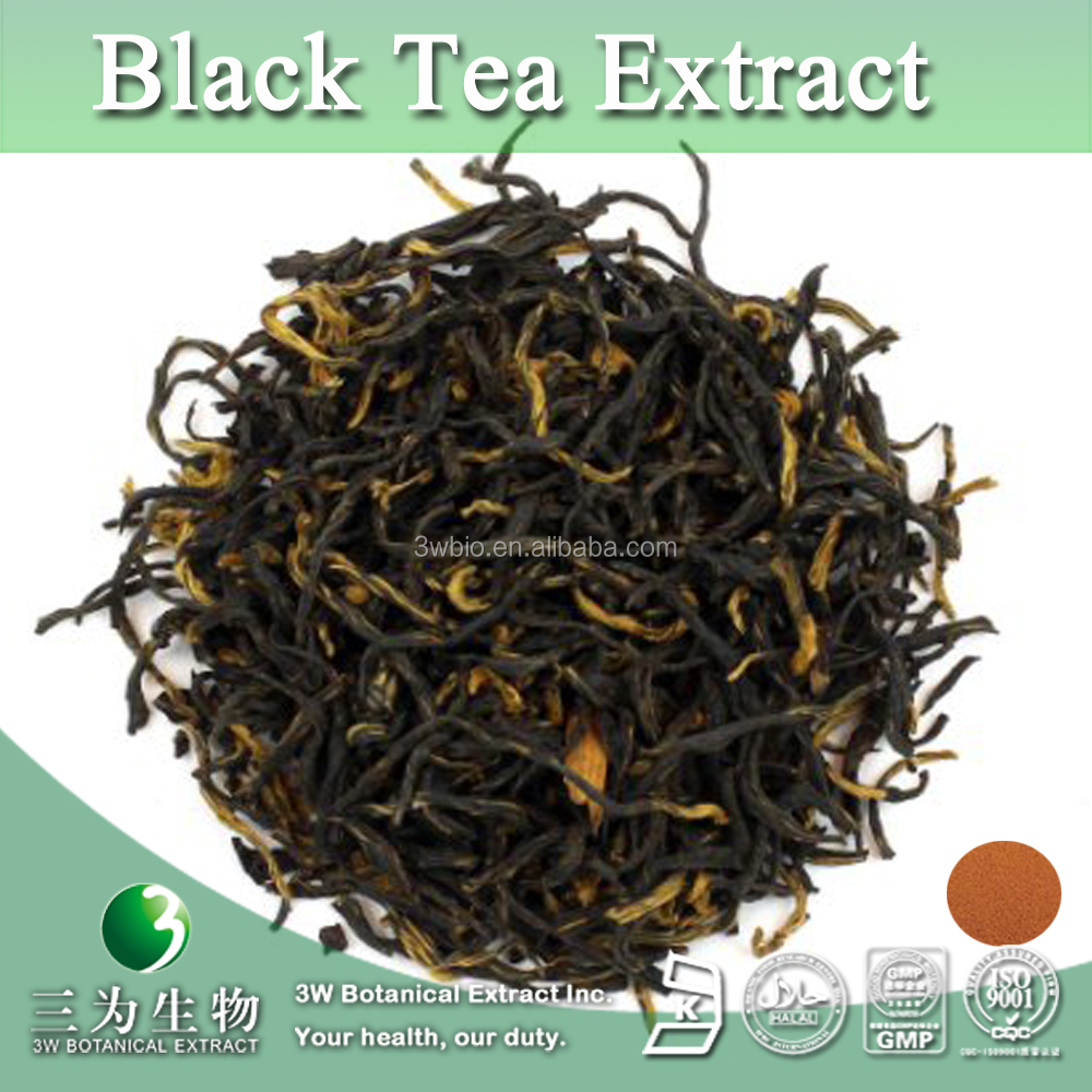 Water Soluble Instant Black Tea P.E., Instant Black Tea Extract Powder Polyphenols 20%