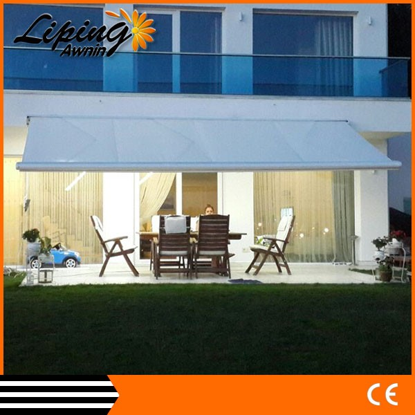 Dual-roller balcony double retractable awning, shade canopy