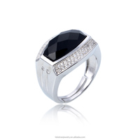 Wholesale online 925 silver black stone ring finger ring design